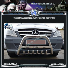 MERCEDES Vito Viano Bull Bar Cromato Asse Spinta BAR 60mm 2010-2014 logo inciso