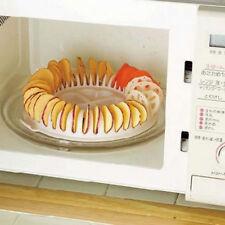 Home Microwave Oven Fruit Potato Crisp Chip Rack Slicer Snack DIY Maker Tray
