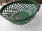 VTG BASKET HANDMADE INDIA ORIGIN SOLID WROUGHT IRON RIVETED ROUND COLOR mini