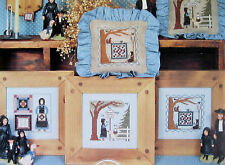 5 VINTAGE DESIGNS of THE AMISH QUIET LIFE to CROSS STITCH by HOMESPUN ELEGANCE