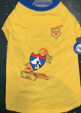 NWT PETELLIGENCE DOGIE T-SHIRT YELLOW ROUTE 66, (SIZE SMALL)