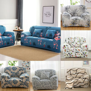 Luxury Seater Cover Sofa Stretch Protector Couch Anti-Skid Elastic Slipcover UK