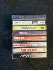 Lot of 8 Movie Soundtrack Cassettes - BURGLAR - FORGET PARIS - MAJOR LEAGUE 2