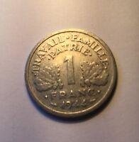 1 Franc francisque Bazor 1944C légère  N2