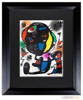 Joan MIRO Lithograph LIMITED Edition ORIGINAL w/ Cat. Ref: c249 +Custom FRAME
