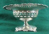 1897 Dominick & Haff Ornate Sterling Silver Compote Footed Bowl 265 Grams