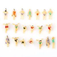 20pcs Painted Model People Figures Swimmer Beach Buildings Pool Diorama N 1:150