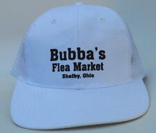 BUBBAS FLEA MARKET One Size Snapback Flat Brim Mesh Back Trucker Baseball Cap