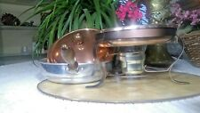 CHAFING DISH WITH RACK AND BURNER; Vintage -1970s