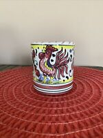 Starbucks by Sambuco Coffee Mug CUP Hand Painted Italy Rooster Floral Design