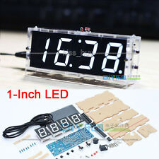 electronic clock white LED microcontroller digital Time, temperature, Date, week