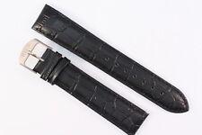WMC Uhrenarmband 20mm Kalbsleder Schwarz Alligator-Narbung Länge: L