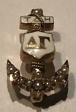 10k Pin 1958 Delta Gamma Sorority Pin Pearls Beta Chapter