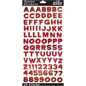 Sticko Red Funhouse ABC Alphabet Letter Stickers Planner Teacher Scrapbook