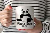 Panda Mama Bear Mug . Panda Bear . Christmas Mug For Mom Gift For New Mom