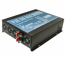5000W Pure Sine Wave Inverter 12V DC to 120V AC Solar Car Power Inverter Home
