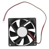 80mm DC 12V 2pin PC Computer Desktop Case CPU Cooler Cooling Fan K4H1