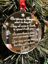 Memory Bauble Personalised Christmas in Heaven Tree Decoration Ornament