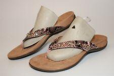 Vionic Womens 9.5 Wide 41.5 Lucia Snake Beaded Flip Flops Comfort Shoes TVW5552