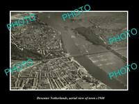 OLD LARGE HISTORIC PHOTO DEVENTER NETHERLANDS HOLLAND TOWN AERIAL VIEW c1940