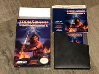 Wizards & Warriors II 2 Iron Sword Nintendo Nes Complete CIB NM Authentic
