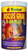 Tropical Discus Gran D - 50 Plus 1 Liter Diskus Granulat Farbfutter