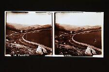 La Faucille France Stéréo Plaque de verre Vintage ca 1925