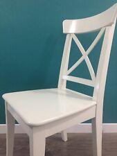 IKEA INGOLF NEU & VERPACKT Stuhl aus Massivholz Holzstuhl WEIß Stuhl Küchenstuhl