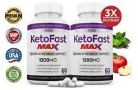 Pure Keto Fast Max 1200MG Ketogenic BHB Supplement Weight Loss Diet Pills 2 Pack