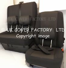 VW Transporter T5  Van Seat Covers- OEM  Black with pattern- IN STOCK!!!