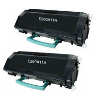 2PK for Lexmark E260A11A Toner Cartridges E260D E260DN E260 E360D E460DN E360DN