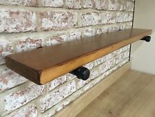 Chunky Wood,Industrial Iron Steampunk Wall Pipe Brackets Loft Style Shelf.Rustic