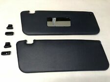 Pair Of Replacement Sun Visors Fits Mercedes Sl W107 Blue With Mirror & Clips