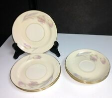 8 Pc Homer Laughlin Eggshell Nautilus TULIP~4 Ea- Saucers, Bread & Butter Plates