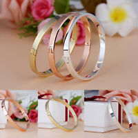 New Titanium Steel Women Men Love Cuff Bangle Bracelet Fashion Jewelry