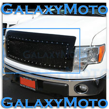 09-14 Ford F150 Direct Replacement Chrome Rivet+Gloss Black Mesh Grille+Shell