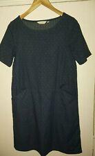 Seasalt Dress Tunic with pockets blue polka dot Size 10
