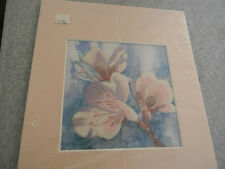 Completed Carmel Foret Simplicity Colorart Crewel Dogwood Flowers 8 x 10 Jca New
