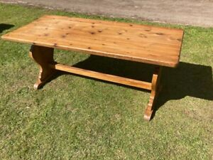 Large Pine Refectory Dining Table Country Farmhouse Solid Vintage