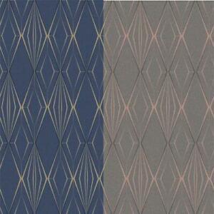 Holden Decor Antares Diamond Geo Glitter Wallpaper 2 Colours