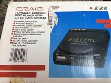 Craig Portable CD Player Super Bass System Vintage JC6010 Walkman compact disc