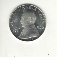 Malta 2 Pounds 1975, Proof Like, Silver, Only 18,000 Minted!