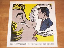 "ROY LICHTENSTEIN POSTER "" THINKING OF HIM "" 1991 YALE UNIVERSITY ART GALLERY"