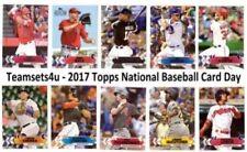 Cromos de béisbol de coleccionismo listos Topps