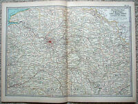 Original 1897 Map of The North Central Part of France by The Century Company