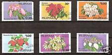 PHILIPPINES #'s 1411-6 Used FLOWERS PLANTS FLORA
