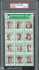 1947 Hollywood Star Stamps Panel L Burt Lancaster GARY COOPER Ellen Drew PSA 5