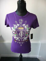 Juicy Couture NWT Blackberry Iconic Embellished Tee Size Small  $78 Sold Out