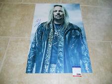 Vince Neil  Motley Crue 20x30 Museum Piece Signed Autograph Photo PSA Certified