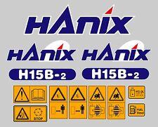 Hanix H15B Digger Adesivo Decalcomania Completo Set con la Sicurezza Avvertenza Adesivi